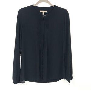 Banana Republic black button down blouse size S